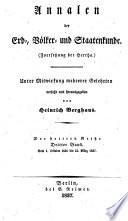 Annalen der erd-, völker- und staatenkunde