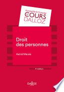 Droit Des Personnes 4e Ed