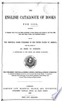 The English Catalogue of Books for