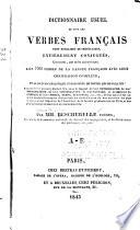 Dictionnaire usuel de tous les verbes fran  ais