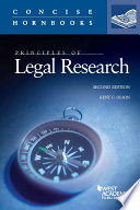 principles of legal research 2d concise hornbook