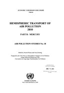 Hemispheric Transport Of Air Pollution 2010 book