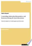 Controlling, Jahresabschlussanalyse und Kostenrechnung für Sportökonomen
