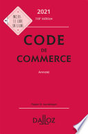 illustration Code de commerce 2021, annoté - 116e ed.