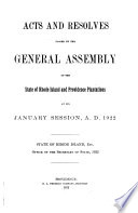 Acts and Resolves of the General Assembly of the State of Rhode Island and Providence Plantations