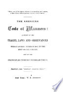 The American Code of Manners Book PDF
