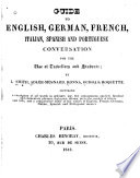 Guide to English  German  French  Italian  Spanish and Portuguese Conversation