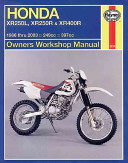 Honda XR250L XR250R   XR400R Owners Workshop Manual