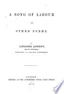 A Song Of Labour, And Other Poems : ...