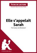 Elle s appelait Sarah de Tatiana de Rosnay  Fiche de lecture