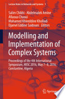 Modelling And Implementation Of Complex Systems book