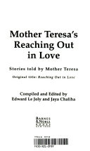 Mother Teresa s reaching out in love