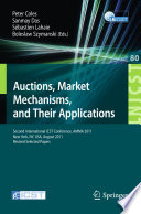 Auctions Market Mechanisms And Their Applications