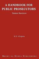 A Handbook For Public Prosecutors