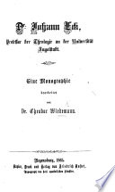 Dr. Johann Eck. Eine Monographie