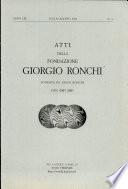 Atti Della Fondazione Giorgio Ronchi Fondata Da Vasco Ronchi