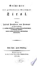 Geschichte der gefürsteten Graffschaft Tirol