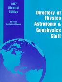Directory of physics, astronomy and geophysics staff