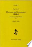 Ogyu Sorai's Discourse On Government (Seidan) : ogyu sorai (1666-1728) wrote a memorandum...