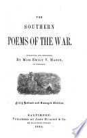 The Southern Poems of the War Book PDF