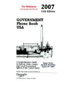 Government Phone Book USA 2007