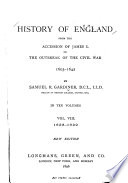 History of England from the Accession of James I  to the Outbreak of the Civil War  1603 1642  1635 1639 Book PDF