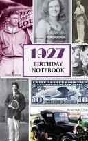 1927 Birthday Notebook
