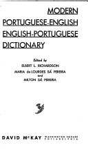 Modern Portuguese-English, English-Portuguese Dictionary