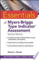 Essentials of Myers Briggs Type Indicator Assessment