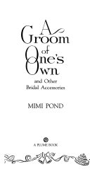 A Groom of One s Own Book PDF