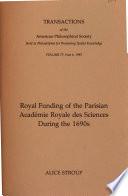download ebook royal funding of the parisian academie royale des sciences during the 1690s pdf epub