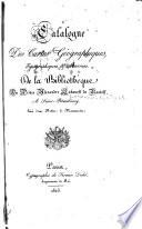 Catalogue des cartes g  ographiques  topographiques   marines