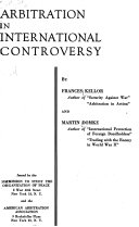 Arbitration in International Controversy