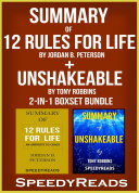 download ebook summary of 12 rules for life: an antidote to chaos by jordan b. peterson + summary of unshakeable by tony robbins 2-in-1 boxset bundle pdf epub