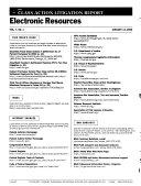 Class Action Litigation Report