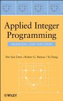 download ebook applied integer programming pdf epub