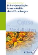88 homöopathische Arzneimittel für akute Erkrankungen