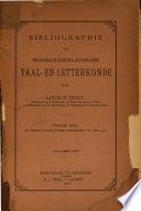 Bibliographie Der Middelnerlandsche, Taal-en Letterfunde