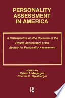 Personality Assessment in America