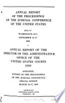 Reports of the Proceedings of the Judicial Conference of the United States