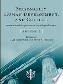 Personality, Human Development, and Culture