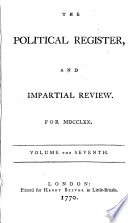 Political Register and Impartial Review of New Books