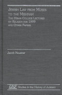 download ebook jewish law from moses to the mishnah pdf epub