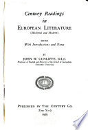 Century Readings in European Literature  Medieval and Modern  Book PDF