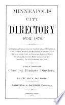 Minneapolis City Directory for