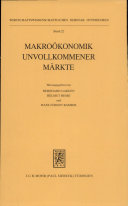 Makroökonomik unvollkommener Märkte
