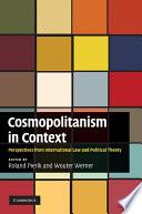 Cosmopolitanism in Context