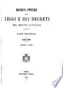 Raccolta ufficiale delle leggi e dei decreti del Regno d Italia