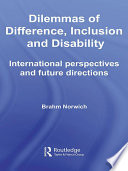 Dilemmas Of Difference Inclusion And Disability