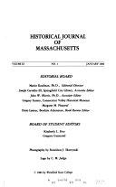 Historical Journal Of Western Massachusetts